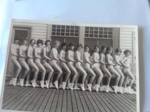 A line-up of dancing girls on Cleethorpes Pier